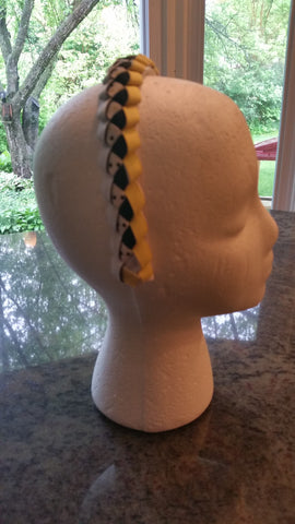Yellow and Black Braided Headband