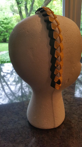 Yellow and Gray Braided Headband