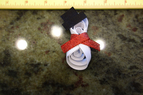 Snowman Ribbon Sculpture