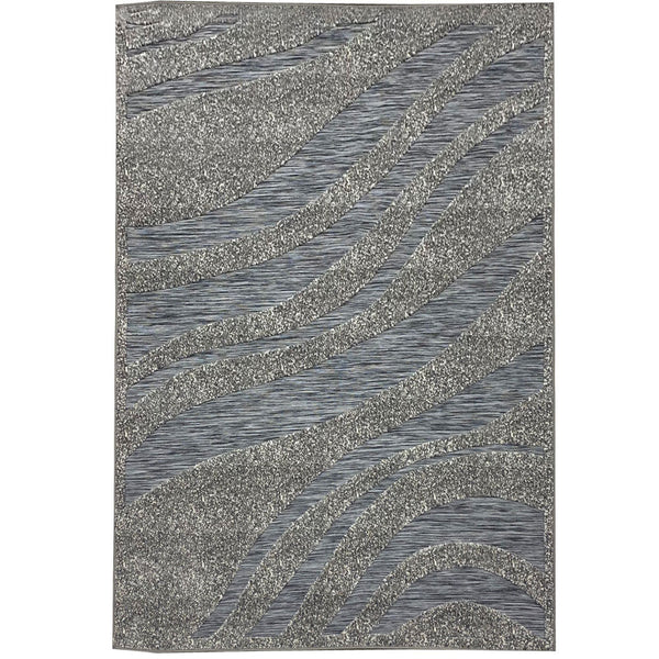 "3 Dimensional Frieze Sisal ""Vegas Collection"" Area Rug 1009 Grey"