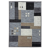 "3 Dimensional Frieze Sisal ""Vegas Collection"" Area Rug 1011 Grey Beige"
