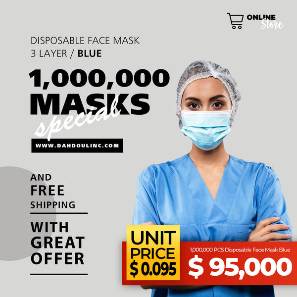 1,000,000 PCS Disposable Face Mask Blue