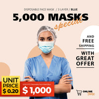 5,000 PCS Disposable Face Mask Blue