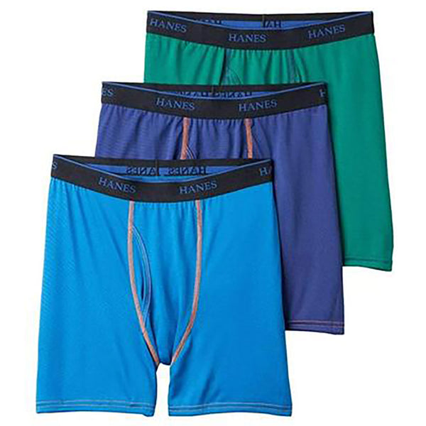 3-Pack Hanes Ultimate Boys Big X-Temp Boxer Brief With Size Options