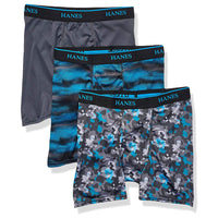 3-Pack Hanes Ultimate Big Boys X-Temp Printed Boxer Brief