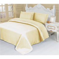 2100 Series Azizeh's Linen Beige With Pillow Case, Flat Sheet, and Fitted Sheet