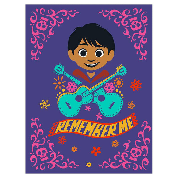 "60"" x 80"" Disney Twin_Full Sherpa Blanket - COCO REMEMBERME"