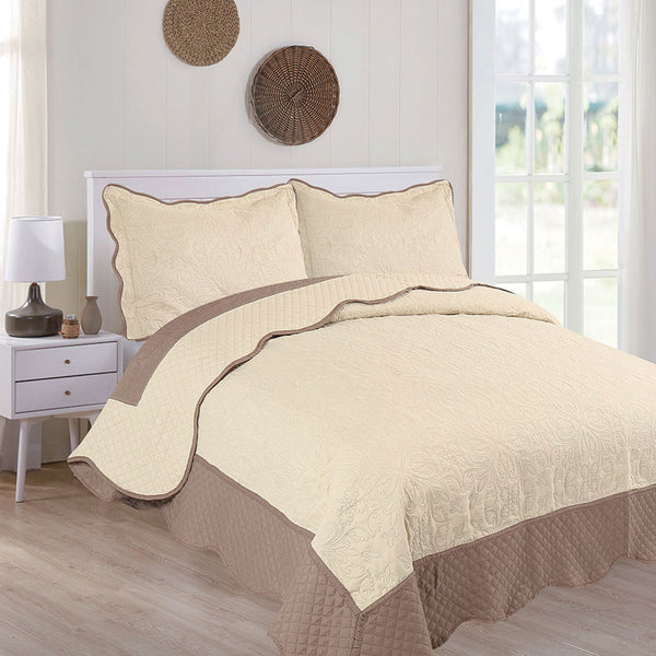 3PC Embossed Bedspread-DAH 18003