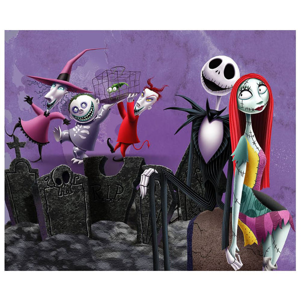 "Disney 4'3"" x 5'8"" Area Rugs-NBC GRAVE YARD"