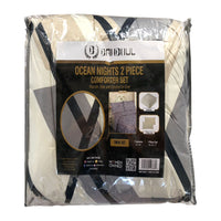 3PC Ocean Nights Comforter Set NL 10348-4 / Printed Design