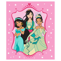 "50"" x 60"" Disney Junior Sherpa Blanket - PRIN Strong Princesses Throw 02"