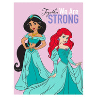 "60"" x 80"" Disney Twin_Full Sherpa Blanket - PRIN TOGETHERSTRONG"