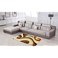 Rug In a Bug M509 Brown, 200x300cm - Plush Area Rug, Super Soft pile, Embossed Effect, Foam Filling, Machine Washable