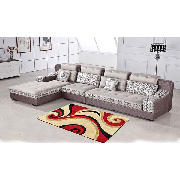 Mollis Throw In a Bag M509 Burgundy, 200x300cm - Plush Area Rug, Super Soft pile, Embossed Effect, Foam Filling, Machine Washable