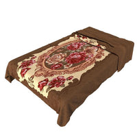 4PC Mogadishu Complete Bed Set - T2096 With Rachel Blanket,  Bedspread and Pillow Case