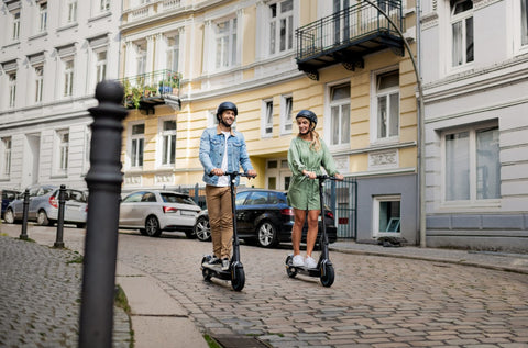 Electric scooter riding. Adult e-scooters. Ninebot Segway. Available from Electric Travels, UK Online Retailer of the worlds best electric scooters https://electrictravels.co.uk/