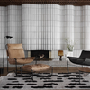 Sera Helsinki, Finnish designed hand-made rugs from Ethiopia, fair-trade, ethically made.  Available exclusively in  North America, Canada and USA, through Studio Nordhaven. Laine Woven Rug - White + Black - Saaristo Collection