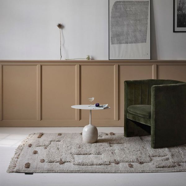 Sera Helsinki, Finnish designed hand-made rugs from Ethiopia, fair-trade, ethically made.  Available exclusively in  North America, Canada and USA, through Studio Nordhaven. Luoto Knotted Wool Rug - Saaristo Collection