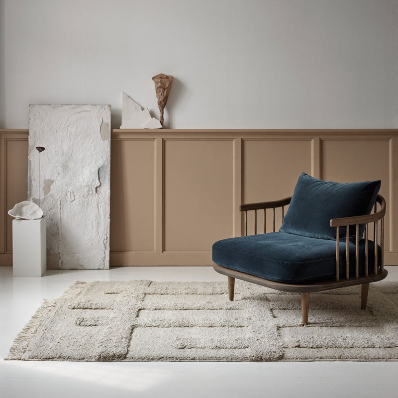 Sera Helsinki, Finnish designed hand-made rugs from Ethiopia, fair-trade, ethically made.  Available exclusively in  North America, Canada and USA, through Studio Nordhaven. Valli Knotted Wool Rug - White + White - Saaristo Collection