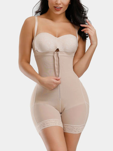 Removable Straps Shaping Shorts Plus Size