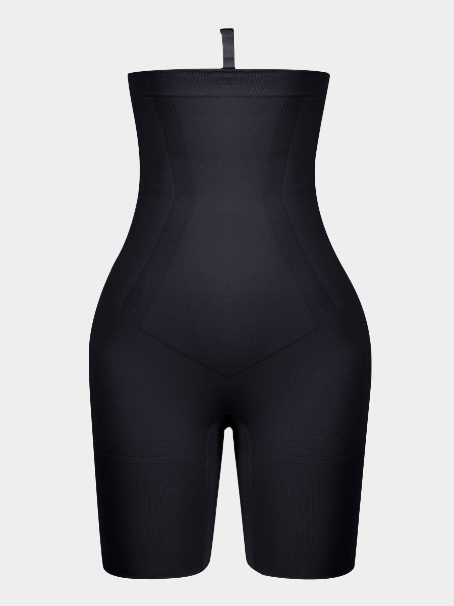 Lycra High-Waisted Mid-Thigh Shape Short