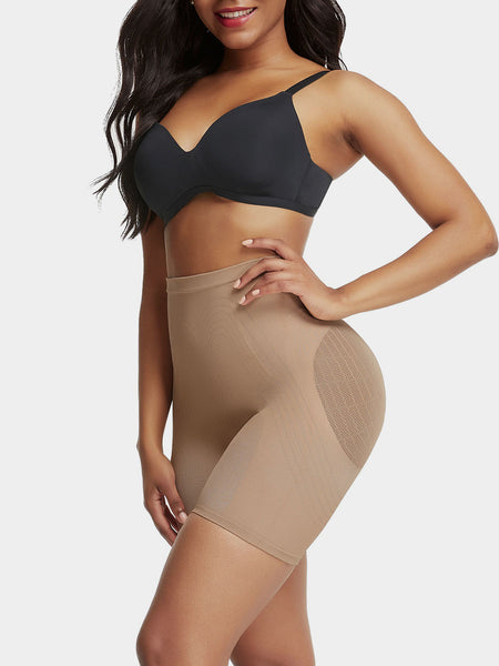 Lycra Mid Waist Thigh Shaping Shorts