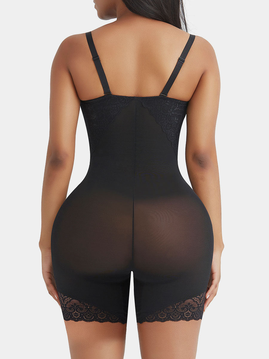 Open Crotch Lace Full Body Shapewear