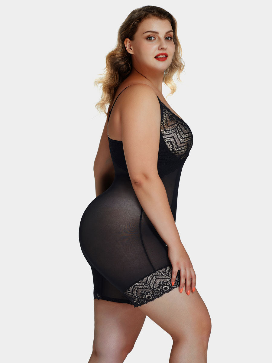Plus Size Lace Full Body Shapewear