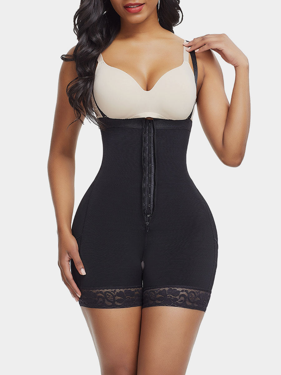 Zipper Detachable Straps Postsurgical Body Shaper