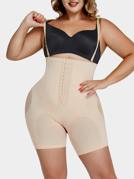 Plus Size Tummy-Control Body Shaper Shorts