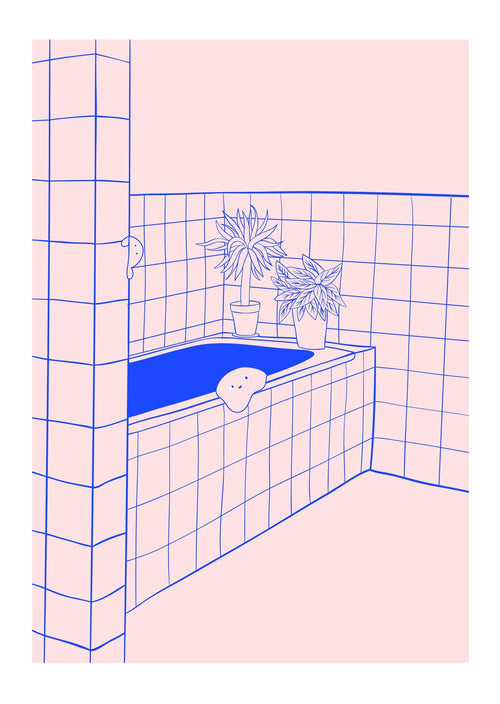 Bathtub escape print