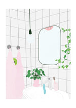 Bathroom buds print