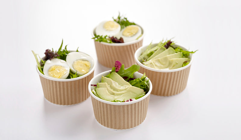 Assorted Egg & Avocado Salad Party Pack - 9 cups