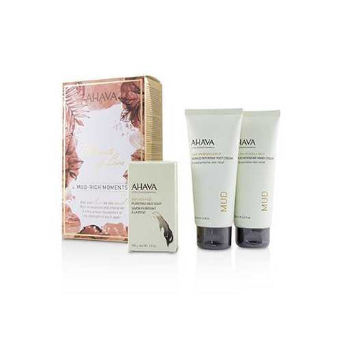 Elements Of Love Mud-Rich Moments Gift Set: Hand Cream 100ml + Foot Cream 100ml + Purifying Mud Soap 100g  3pcs