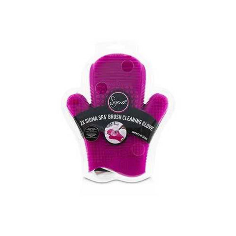 2X Sigma Spa Brush Cleaning Glove - # Pink  -