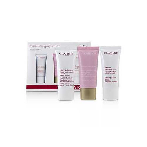 Multi-Active 30+ Anti-Ageing Skincare Set: Gentle Refiner 30ml + Multi-Active Day Cream 30ml + Beauty Flash Balm 30ml  3pcs