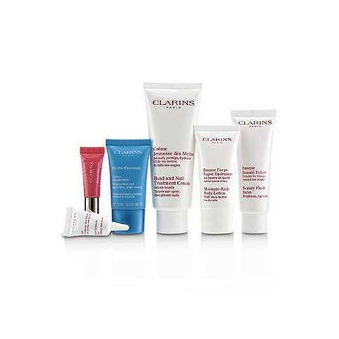 Week-End Essentials: Hand & Nail Cream+Beauty Flash Balm+Moisture-Rich Body+Eye Contour Gel+Hydra-Essentiel Cream+Lip  6pcs+1bag