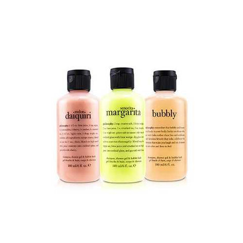 Congrats! 3-Piece Shower Gel Set: 1x Senorita Mrgarita 180ml + Melon Daiquiri 180ml + Bubby  3x180ml/6oz