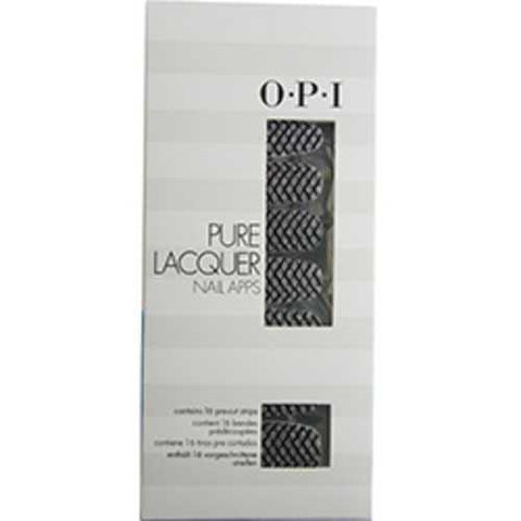 Opi Pure Lacquer Nail Apps--zig Zag Sparkle--16 Pre-cut Strips For Women