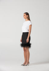 Feather Mini Skirt : CODE4884