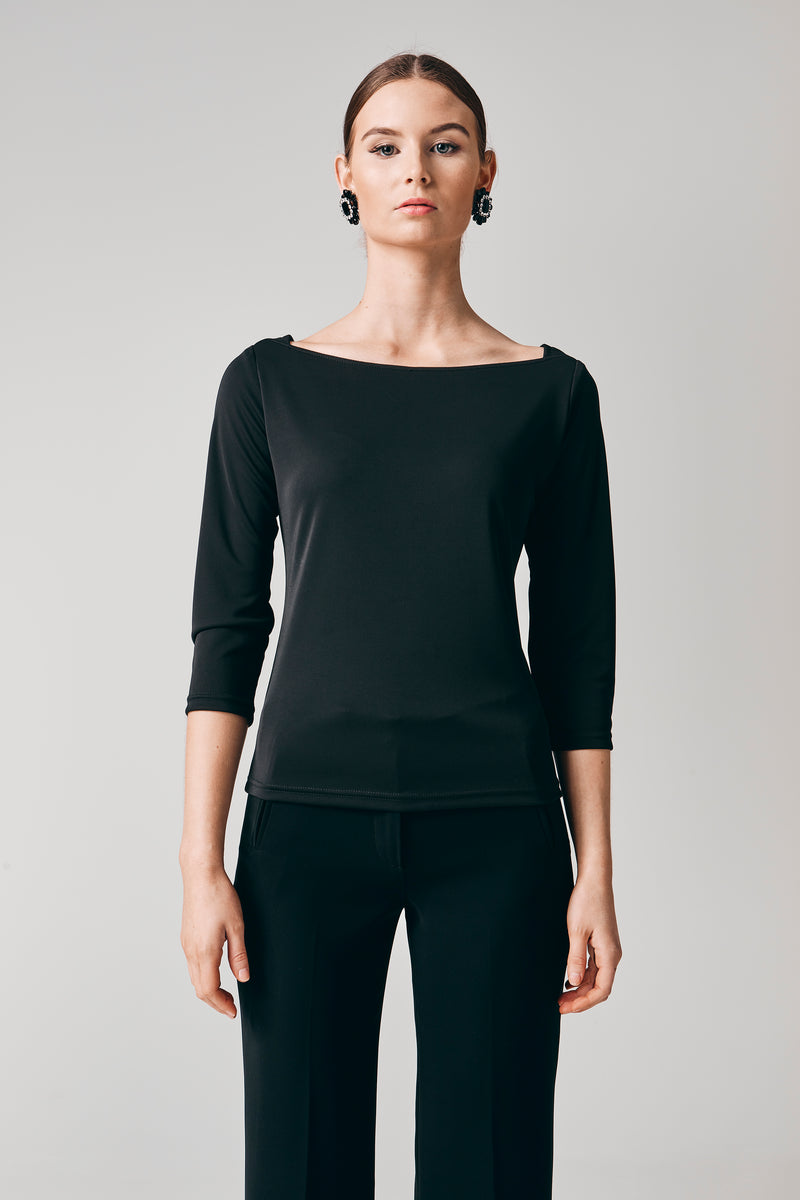 Paris Knit Top - Black