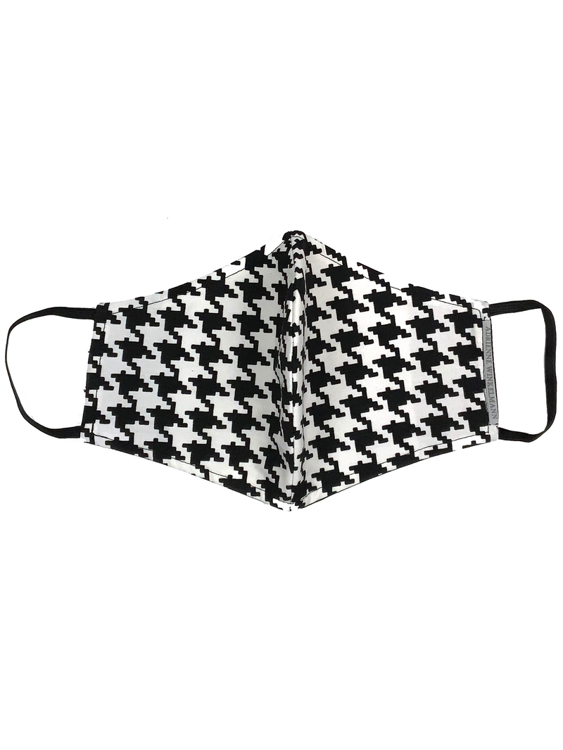 Face Mask : Black & White Houndstooth