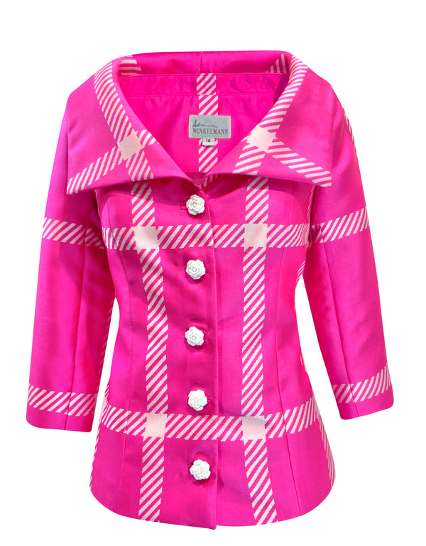 Adaline Jacket : Hot pink