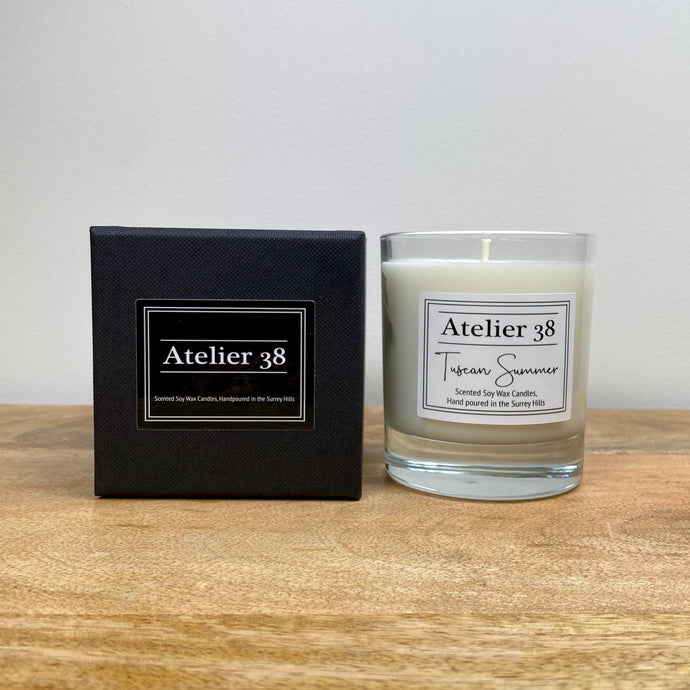Atelier 38, Tuscan Summer, Classic Luxury Soy Candle, All Natural