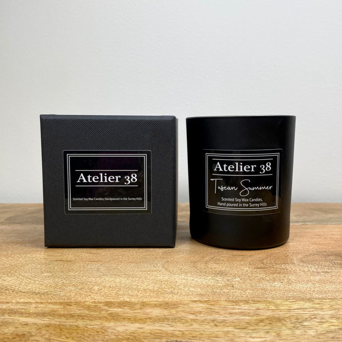 Atelier 38, Tuscan Summer, Luxury Soy Candle, All Natural