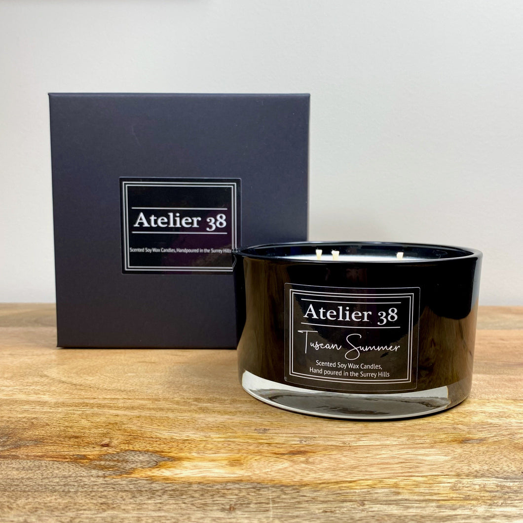 Atelier 38, Tuscan Summer,  Large Soy Candle, Multiwick Candle