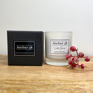 Atelier 38. Extra Large, Multiwick, Winter Berries, Luxury Soy Wax Candle. Christmas Collection