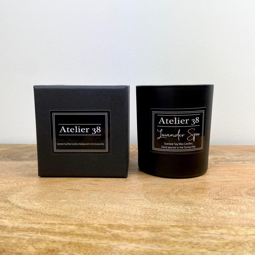 Lavender Spa, Medium, Contemporary Black - Atelier 38