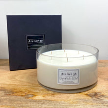 Load image into Gallery viewer, Atelier 38 Luxury Soy Candle. Bergamot, Verbena & Basil. 7 wick, extra large candle, 100 hour burn time.