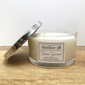 Atelier 38, Tuscan Summer, Classic Large, Multiwick Candle
